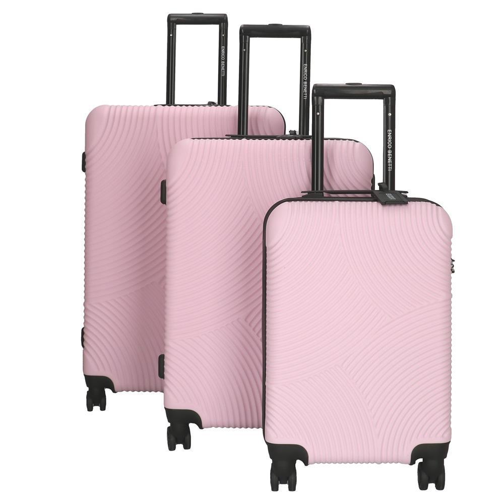 Enrico Benetti Louisville koffers/trolley roze