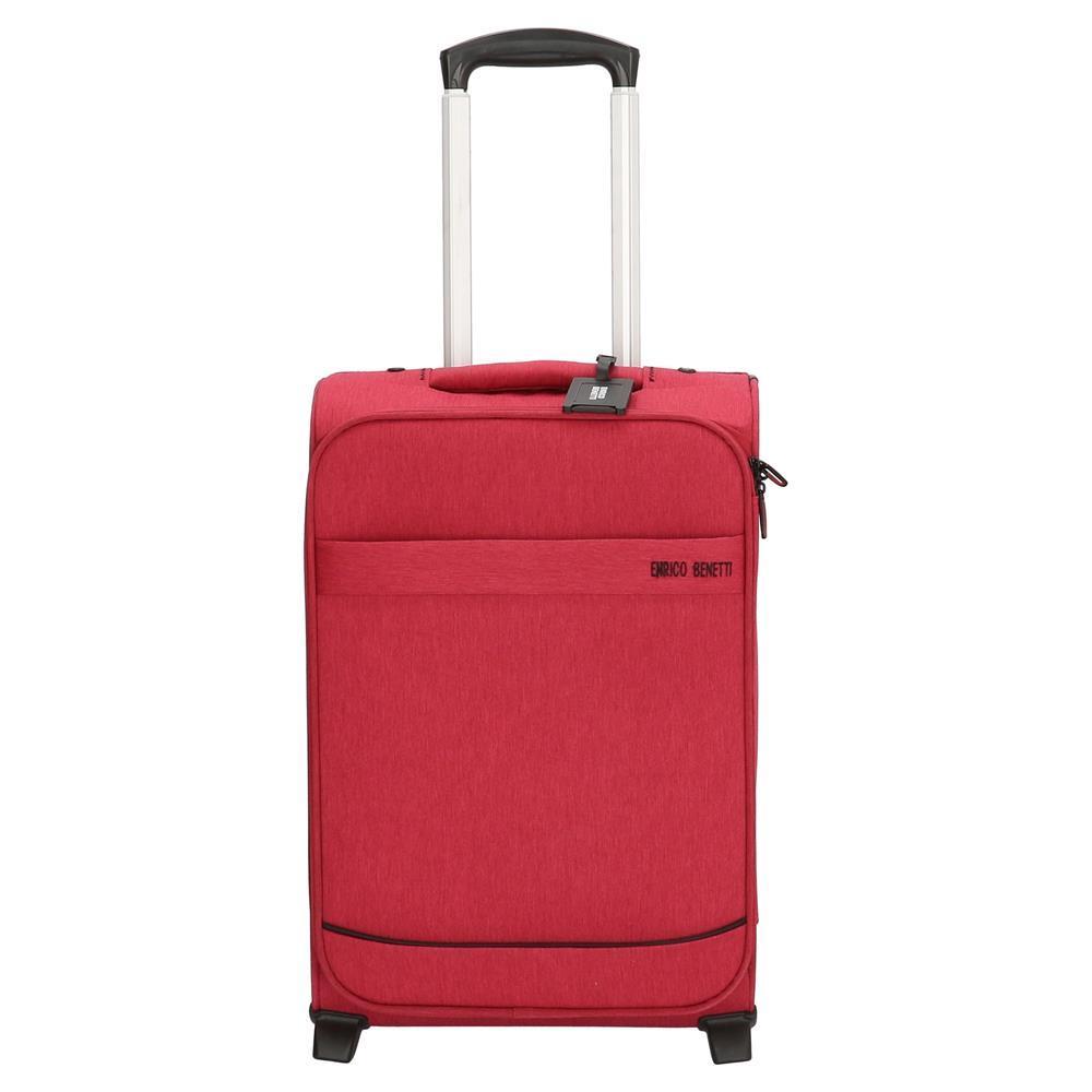 Enrico Benetti Dallas koffers/trolley roze-rood