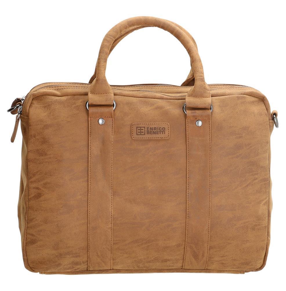 Enrico Benetti Madrid laptoptas/ business tas bruin 15 inch