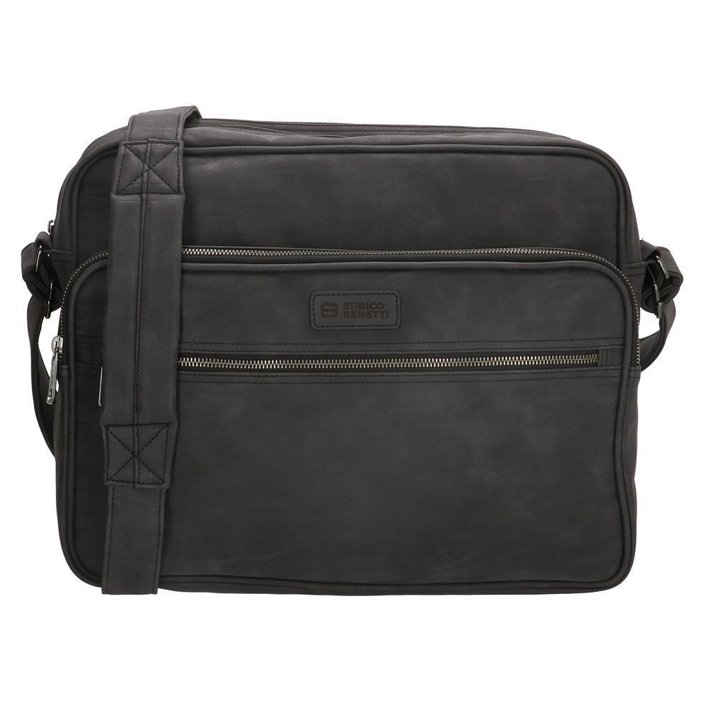 Enrico Benetti Madrid laptoptas/ business tas zwart 15 inch