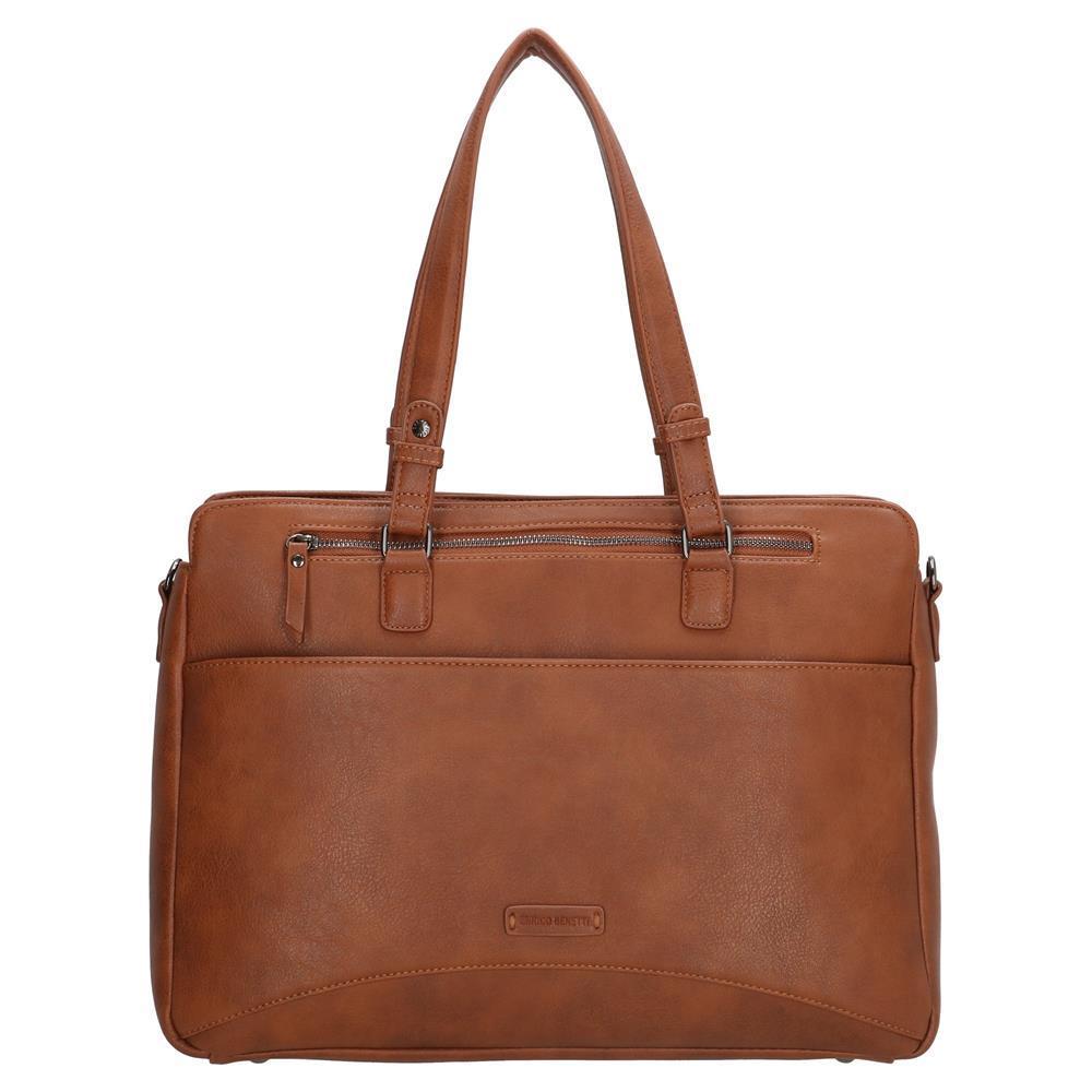 Enrico Benetti Lily laptoptas/ business tas cognac 14 inch