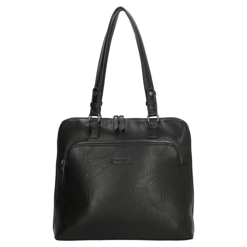 Enrico Benetti Caen laptoptas/ business tas zwart 13 inch