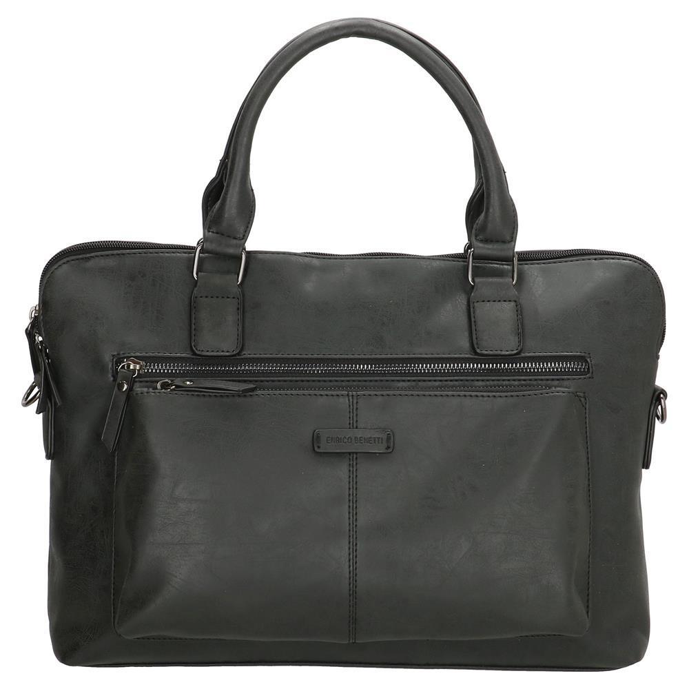 Enrico Benetti Nouméa laptoptas/ business tas zwart 14 inch