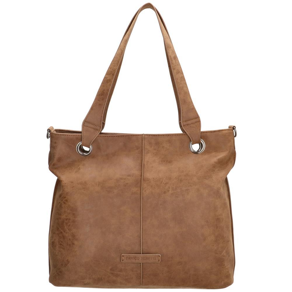 Enrico Benetti June shopper camel tablet