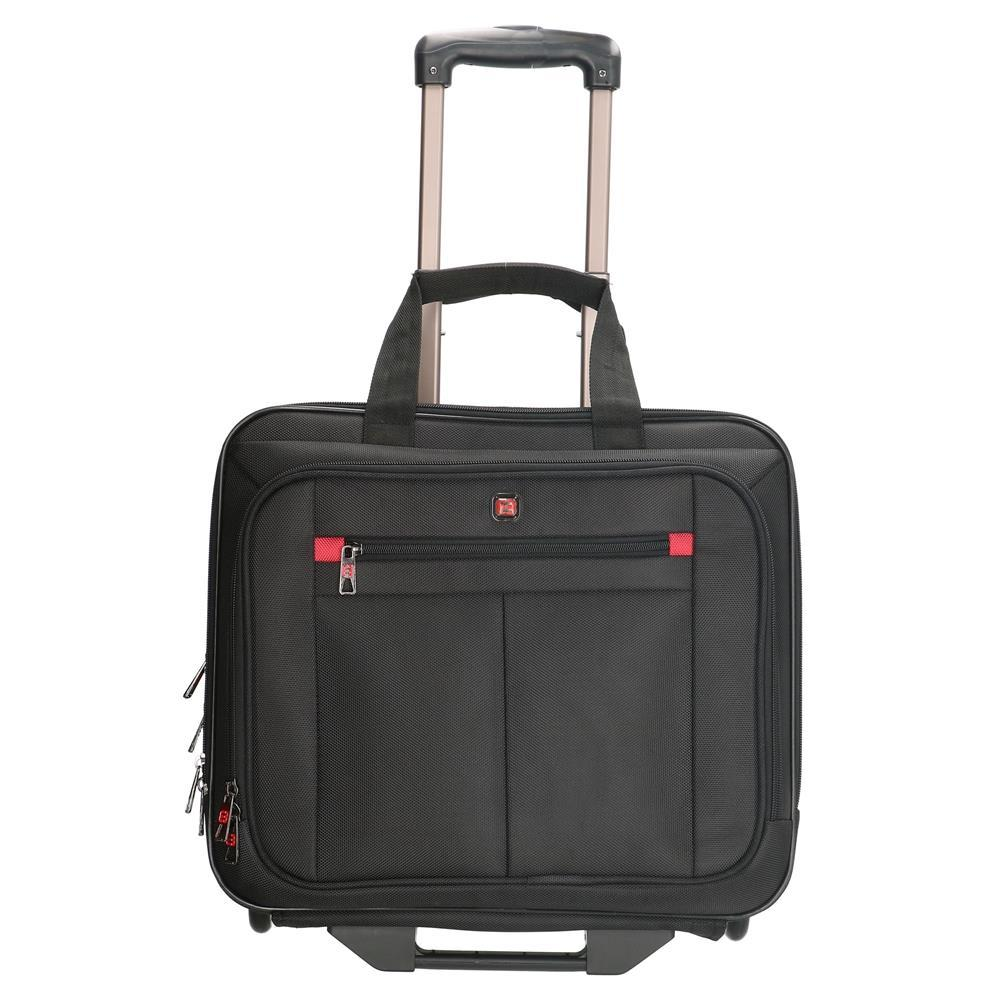 Enrico Benetti Cornell laptop trolley zwart 17 inch