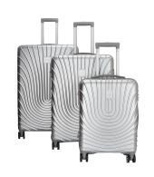 Enrico Benetti Calgary koffers/trolley zilver