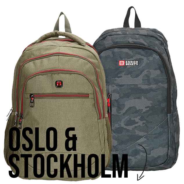 New in: Oslo and Stockholm backpacks